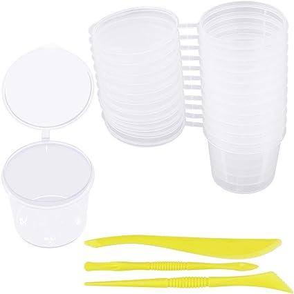 LYTIVAGEN 24 PCS Contenedor de Almacenamiento, Caja de Plástico Redonda, Recipientes Transparentes con Tapa para Slime, Liquido, Joya: Amazon.es: Bricolaje y herramientas