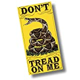 """Custom & Luxurious {30"""" x 60"""" Inch} 1 Single Large & Thin Soft Summer Beach & Bath Towels Made of Quick-Dry Cotton w/ United States Military ''Don't Tread On Me'' Rattle Snake Patch Style [Multicolor]"""