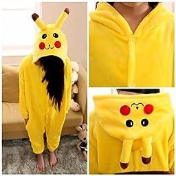 Kaifina Cute Pikachu Kids Kigurumi Pajamas Sleepwear