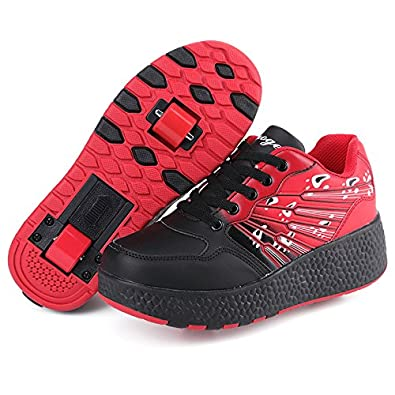 KE- Zapatillas de deporte con luces de LED, Two Wheels, 3.5 UK: Amazon.es: Deportes y aire libre