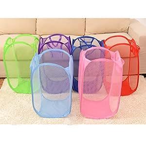 MuLuo Foldable Mesh Washing Basket Storage Basket Box For Toy Dirty Clothes
