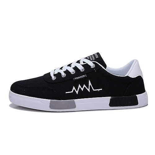 Zapatillas de Running para Hombre,BBestseller Zapatos de Lona Zapatos de Deporte de los Hombres Zapatos Deportivas Fitness Casual Sneakers Invierno: ...