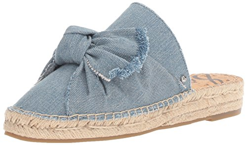 Sam Edelman Women's Lynda, Light Blue Denim, 7.5 M - Womens Rogue Flat
