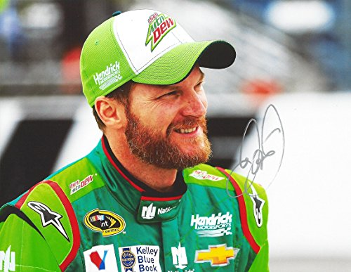 AUTOGRAPHED 2015 Dale Earnhardt Jr. #88 Diet Mountain Dew Racing (Hendrick Motorsports) Pit Road NASCAR Glossy Photo with (Dale Earnhardt Photo)