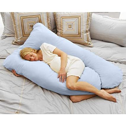 Total Body Comfort for Pregnancy /& Maternity Use Sky Blue U Shaped Pillow