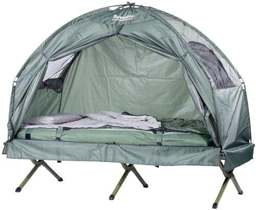 Semptec Urban Survival Technology 4in1-Zelt inkl. Schlafsack, Matratze & Campingliege