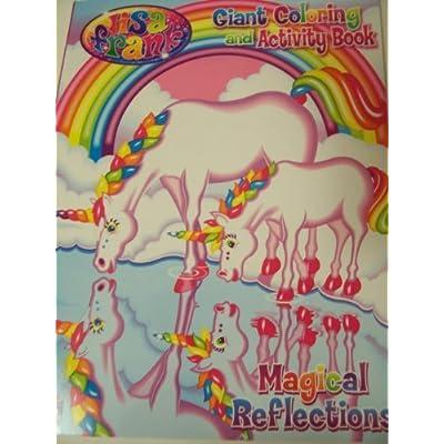 Lisa Frank Giant Coloring and Activity Book ~ Magical Reflections! (Unicorns at Lake) by Kappa: Toys & Games