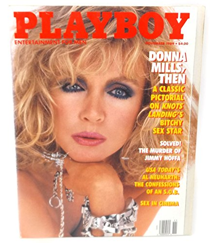 November 1989, Playboy Magazine - Vintage Men's Adult Magazine Back Issue - Donna Mills