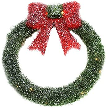 Holiday living 36 in indoor outdoor green for 48 lighted crystal 3 d outdoor christmas wreath decoration