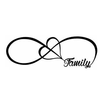 Toogoor Family Love Heart Infinity Forever Symbol Pvc Decal Car