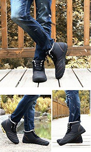 Donna DF Boots Caviglia Piatto Scarpe Impermeabile Stivali da Sportive Invernali Fexkean 34 Botas Neve Uomo 46 Nero Stivaletti OUw8a