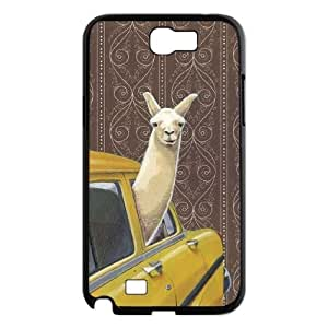 WEUKK Alpaca Samsung Galaxy Note2 N7100 cases, personalized phone case for Samsung Galaxy Note2 N7100 Alpaca, personalized Alpaca cover case