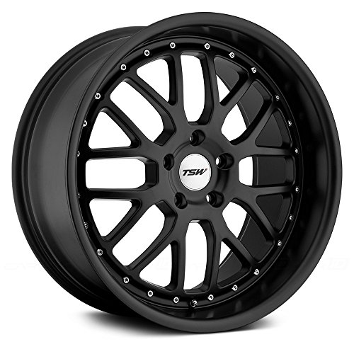 TSW 17 Inch 17x8 wheels VALENCIA Matte Black wheels rims