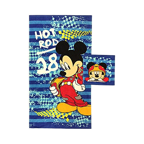 Disney Mickey Mouse Kids Children Toddlers Bath Towel & Washcloth Set by Disney