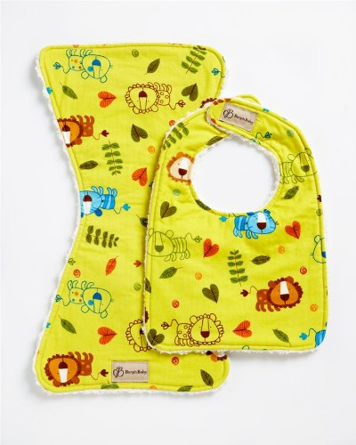 Chenille Bib Burp Cloth (Zoo Friends Bib & Burpie Set)