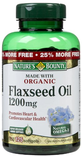 Nature's Bounty Organic Flaxseed Oil 1,200 mg Softgels, 100 ct
