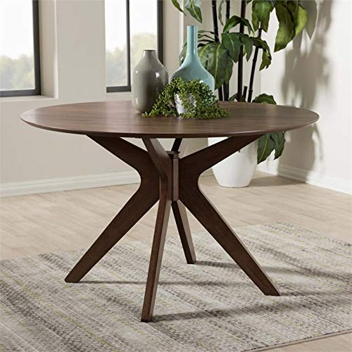 Hawthorne Collections Round Dining Table in Walnut Brown by Hawthorne Collections (Image #1)