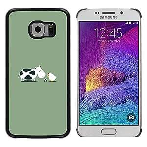 Paccase / SLIM PC / Aliminium Casa Carcasa Funda Case Cover - Chicken Baby Egg Farm Funny - Samsung Galaxy S6 EDGE SM-G925