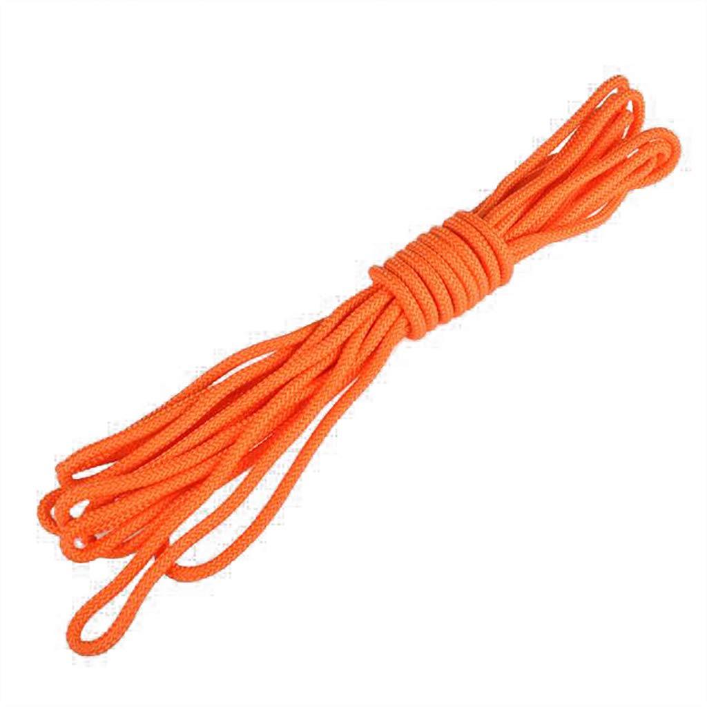 ZPWSNH Ligne de Vie diamètre 1CM14 Corde à Eau Professionnelle Suspendue Boucle Orange Corde d'escalade (Taille   40m) 50m