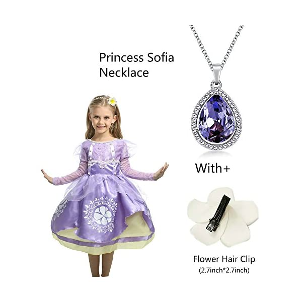 Princess Sofia Ncklace Teardrop Pendant Necklace Fashion Jewelry Gift for Girls by LEECCO