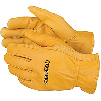 Gempler's Premium Deerskin Leather Driver's Gloves, 1 Pair – Abrasion-Resistant Unlined Durable Protective Driving Gloves