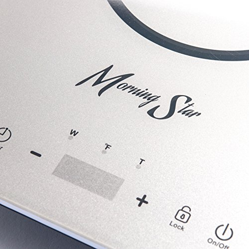 Morning Star MS-151 Induction Cooktop, Portable Countertop Burner, Ultra-Thin Design, Rapid Heat Technology, Auto-Pan Detection, Sleek Metallic Silver Color by Morning Star (Image #1)