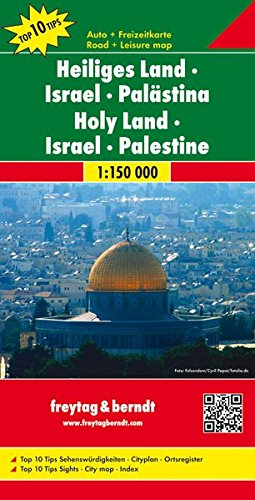Freytag Berndt Autokarten, Heiliges Land - Israel - Palästina - Maßstab 1:150 000