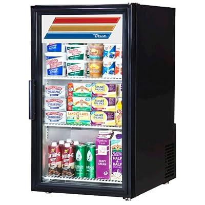 True GDM-6-LD Series Glass Swing Door Countertop Merchandiser Refrigerator