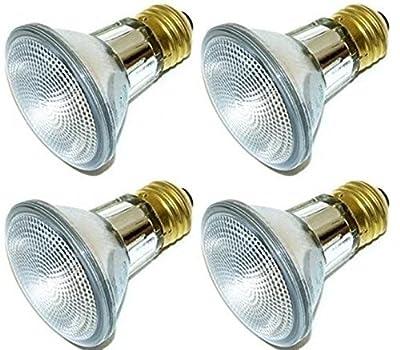 Simba Lighting 39PAR20/FL Halogen PAR20 Light Bulb 39W 30deg Spotlight Dimmable (4-Pack) for Indoor Recessed Can, Range Hood and Outdoor PAR 20, 120V E26 Base, 50W Replacement, 2700K Warm White