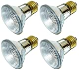 [4 Pack] Simba Lighting™ Halogen 39PAR20/FL 120V 39 Watt PAR20 High Output (50W Equivalent) Narrow Flood PAR 20 Light Bulbs Soft White E26 Medium Base
