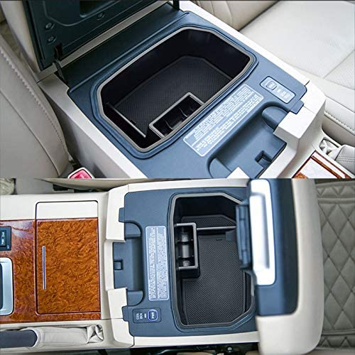 XUKEY Armrest Storage Box For Lexus LX570 For Toyota Land Cruiser 2008-2018 Center Console Bin Glove Tray Holder Case Car Organizer