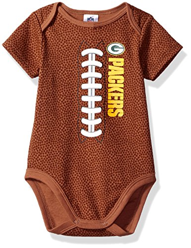 Gerber Childrenswear NFL Green Bay Packers Boys Football Bodysuit, 3-6 Months, Brown (Green Bay Packers Apparel)