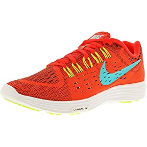 Nike Men's Lunartempo Bright Crimson/Light Aqua-Volt-White Ankle-High Running Shoe - 8M
