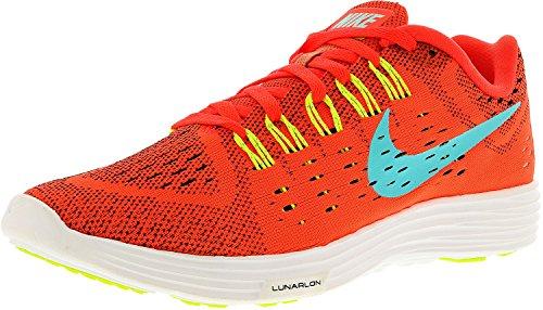 Nike Men's Lunartempo Bright Crimson/Light Aqua-Volt-White Ankle-High Running Shoe - 8M