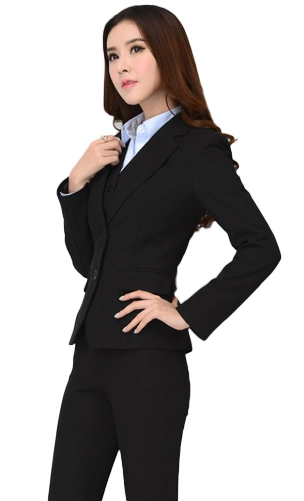 SK Studio Women's 2 Piece Slim Fit Business Blazer Suits SK-H-0003