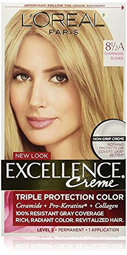 Paris Creme - L'Oreal Paris Excellence Créme Permanent Hair Color, Champagne Blonde [8.5A] 1 ea