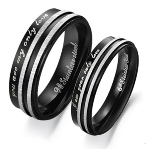 Fate Love Stainless Engraved Engagement product image