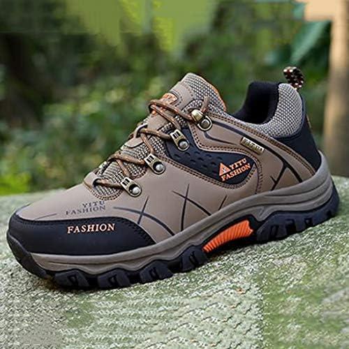 男性は靴をハイキングノンスリップ耐摩耗性と軽量ウォーキングシューズアウトドアトレッキング登山動作させるための軽量靴スニーカー (Color : Green, Size : 46)