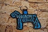 Schnauzer Breed Keychain, Key fob, Mini schnauzer