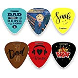 Creanoso Dad Guitar Picks Celluloid Medium (12-Pack) - Best Dad Ever - Unique Gifts for Superhero Fathers Day and Daddy Birthday - Best Dad Gifts