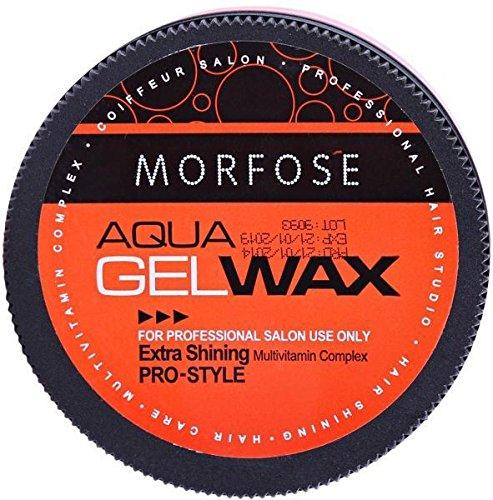 (MORFOSE Aqua Gel Hair Wax Pro Style Extra Shinning 5.92oz / 175ml)