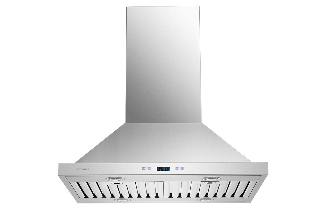 CAVALIERE 30'' Island Mounted Stainless Steel Kitchen Range Hood 900 CFM SV218B2-I30 by CAVALIERE