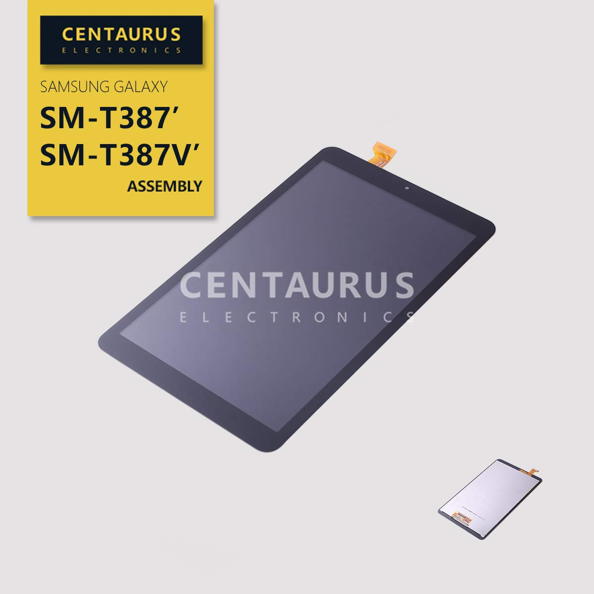 CENTAURUS Screen Replacement for Samsung T387, LCD Display Touch Digitizer Assembly Compatible Samsung Galaxy Tab A 8.0 2018 SM-T387 SM-T387V (Black-NO Frame)