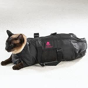 Heavy Duty Mesh Cat Grooming Bathing Restraint Bag 3 Sizes & Vet Sets Available(Medium)