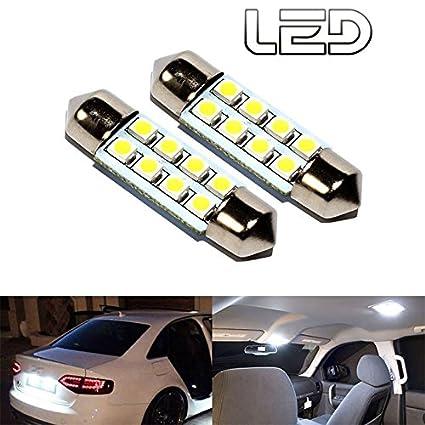 ESS Tech - Bombilla LED SV8 para coche, de 41 mm, luz para interior