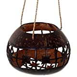 NOVICA Floral Natural Fiber Storage Container, Brown, Lotus Shrine'