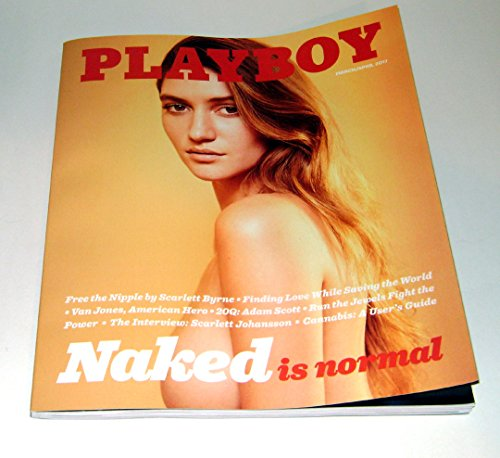 Playboy Magazine (March/April, 2017) Elizabeth Elam Naked Is Normal Cover -