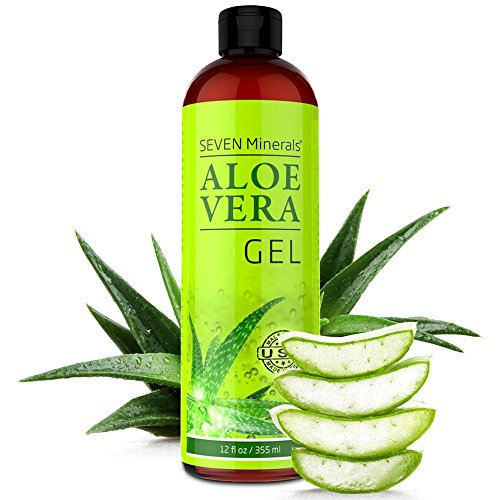Organic Aloe Vera Gel - Big 12 oz - NO XANTHAN, Absorbs Rapidly, No Sticky Residue (Seaweed Aloe Vera Gel)