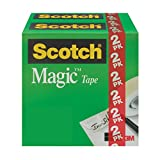 Office Products : Scotch Magic Matte Finish Tape, 3/4 x 1000 Inches, 2 Boxes/Pack (810K2)