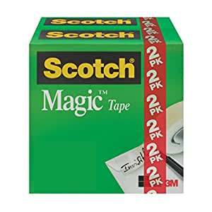 Scotch Magic Matte Finish Tape, Writeable, 3/4 x 1000 Inches, 2 Boxes/Pack (810K2)